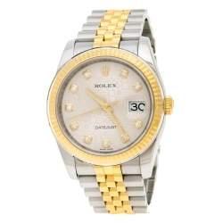 Rolex Silver 18K Yellow Gold Stainless Steel Diamond Datejust II 116233 Women's Wristwatch 35MM