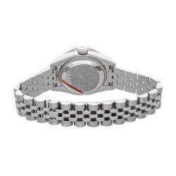 Rolex Pink Gold Crystal Diamond 18K White Gold Datejust 179384 Women's Wristwatch 26 MM