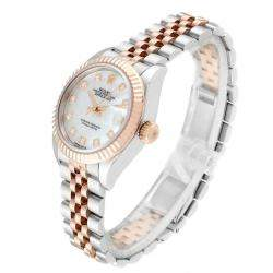 Rolex MOP Diamonds 18K Rose Gold And Stainless Steel Datejust 279171 Women's Wristwatch 28 MM