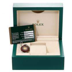 Rolex Black 18K Rose Gold Datejust 179171 Women's Wristwatch 26 MM