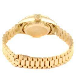 Rolex Champagne Diamonds 18K Yellow Gold President Datejust 69158 Women's Wristwatch 26 MM