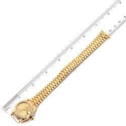 Rolex Champagne Diamonds 18K Yellow Gold President Datejust 69288 Women's Wristwatch 26 MM