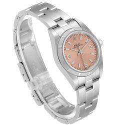 Rolex Salmon Stainless Steel Oyster Perpetual 76030 Women's Wristwatch 24 MM