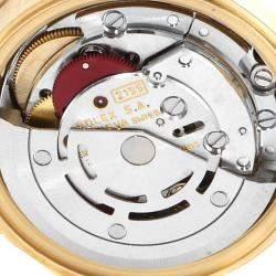 ساعة يد نسائية رولكس ديت جست 69178  ذهب أصفر عيار 18 ألماس شامبانيا 26 مم
