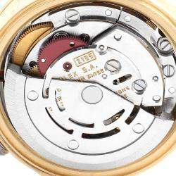 ساعة يد نسائية رولكس ديت جست 69168  ذهب أصفر عيار 18 ألماس شامبانيا 26 مم