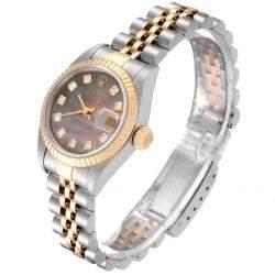 Rolex MOP Diamonds 18K Yellow Gold And Stainless Steel Datejust 79173 Women's Wristwatch 26 MM
