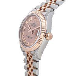 Rolex Pink 18K Rose Gold And Stainless Steel Datejust 278271 Women's Wristwatch 31 MM