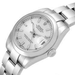 Rolex Silver Stainless Steel Datejust 178240 Women's Wristwatch 31 MM