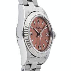 Rolex Rose Stainless Steel Oyster Perpetual 69174 Women's Wristwatch 24 MM