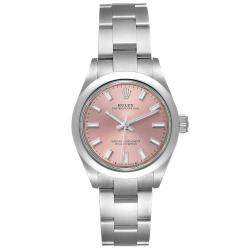 Rolex Pink Stainless Steel Oyster Perpetual 276200 Women's Wristwatch 28 MM