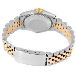 Rolex Blue Diamonds 18K Yellow Gold And Stainless Steel Datejust 68273 Women's Wristwatch 31 MM