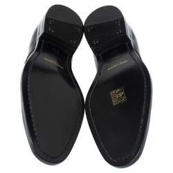 Saint Laurent Paris Black Leather Lace Up Oxfords Size 37.5