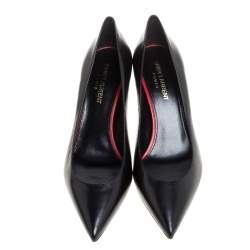Saint Laurent Paris Black Leather Pumps Size 37.5
