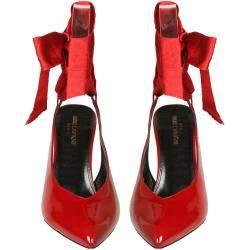Saint Laurent Paris Red Patent Leather Venus Pumps Size EU 38