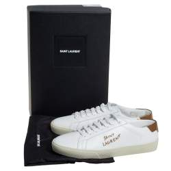 Saint Laurent White Leather Court Classic Sneakers Size 38
