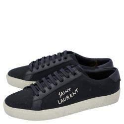 Saint Laurent Paris Black Court Classic SL/06 Low Top Sneakers Size EU 36
