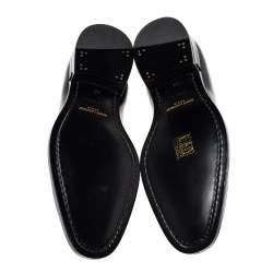 Saint Laurent Black Leather Lace Up Derby Size 38