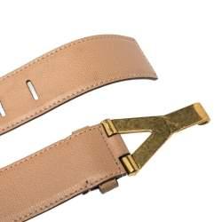 Saint Laurent Paris Beige Leather Y Buckle Belt 85CM