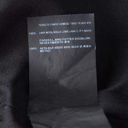 Saint Laurent Paris Black Wool Asymetric Belted Sleeveless Dress M