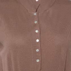 Yves Saint Laurent Chestnut Brown Wool Knit Sleeveless Dress L