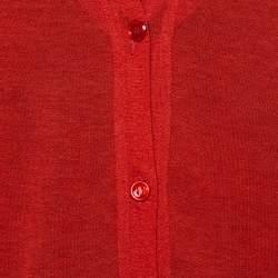 Yves Saint Laurent Burnt Orange Cotton Silk Cardigan L