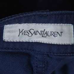 Yves Saint Laurent Navy Blue Denim Straight Fit Jeans S