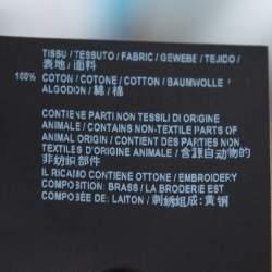 Saint Laurent Paris Black Denim Mini Skirt M