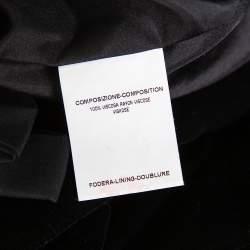 فستان قصير إيف سان لوران تفايل حافة فيونكة قطيفة أسود مقاس صغير