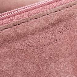 Yves Saint Laurent Pink Suede Vincennes Mombasa Hobo