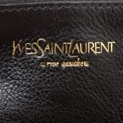 Yves Saint Laurent Black Leather Vincennes Mombasa Hobo