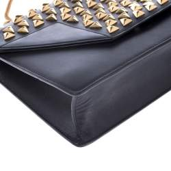 Saint Laurent Paris Black Leather Studded Betty Shoulder Bag