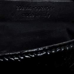Yves Saint Laurent Black Patent Leather Emma Chain Shoulder Bag