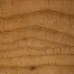 Yves Saint Laurent Brown Crocodile Embossed Nubuck Leather Catwalk Shoulder Bag