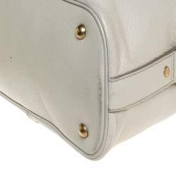 Yves Saint Laurent Cream Leather Medium Muse Satchel