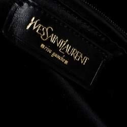 Yves Saint Laurent Metallic Grey Leather Medium Muse Satchel