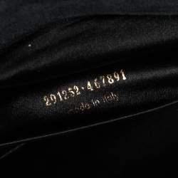 Saint Laurent Black Leather Rock Studded Clutch
