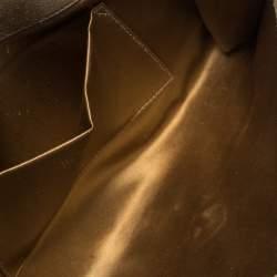 Saint Laurent Gold Patent Leather Belle De Jour Flap Clutch