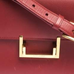 Saint Laurent Paris Red Leather Lulu Shoulder Bag