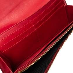 Saint Laurent Red Leather Y-Ligne Clutch