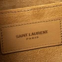 Saint Laurent Beige Leather Y Ligne Clutch