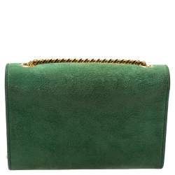 Saint Laurent Green Suede Small Kate Tassel Crossbody Bag