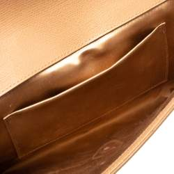 Yves Saint Laurent Nude Beige Leather Y-Ligne Clutch