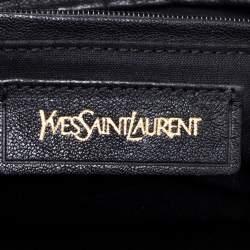 Yves Saint Laurent Black Leather Small Cabas Y-Ligne Tote