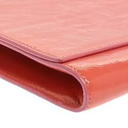 Yves Saint Laurent Pink Patent Leather Belle De Jour Flap Clutch