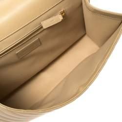 Saint Laurent Beige Matelasse Leather Large Cassandre Flap Bag