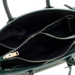 Saint Laurent Dark Green Leather Small Classic Sac De Jour Tote
