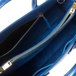 Saint Laurent Blue Leather Small Classic Sac De Jour Tote
