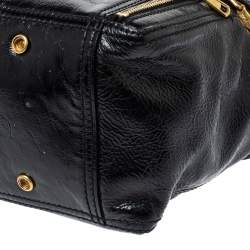 Saint Laurent Black Patent Leather Mini Downtown Tote