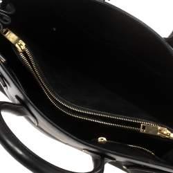 Saint Laurent Black Leather Small Classic Sac De Jour Tote