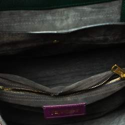 Saint Laurent Tri Color Leather and Suede Muse Two Satchel